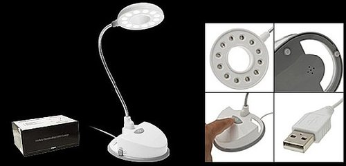 USB Voice Activated Control Reading Lamp