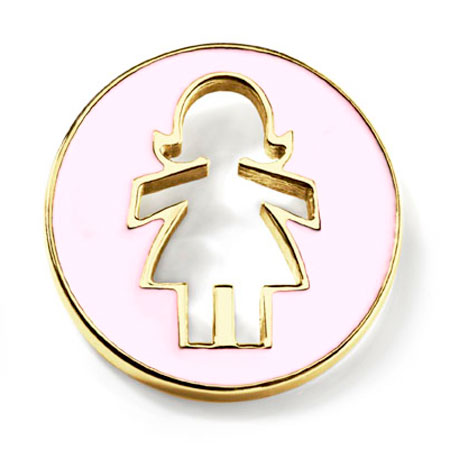 Sloane Pink Enamel 14k Yellow Gold