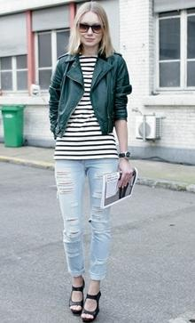 Street Fashion : Ripped Jeans