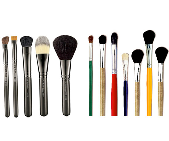 Paint Brushes in Lieu of Makeup Brushes?