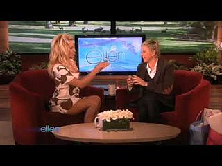 Pamela Anderson Discusses Her Perfume on Ellen 2009-11-11 12:06:29