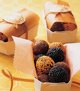 Black and Orange Truffles