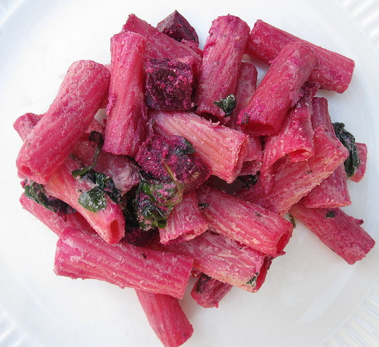 Rigatoni with Ricotta and Roasted Beets