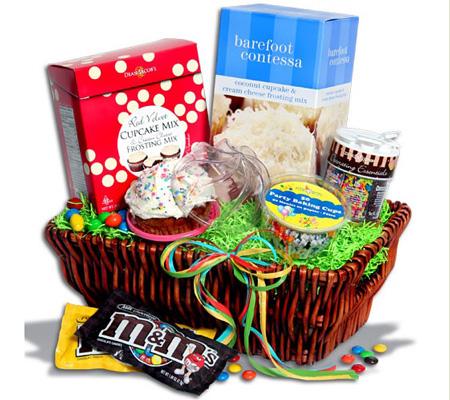 Cupcake Party Gift Basket