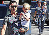 Photos of Gavin Rossdale and Kingston Rossdale Eating Breakfast At a Deli in LA