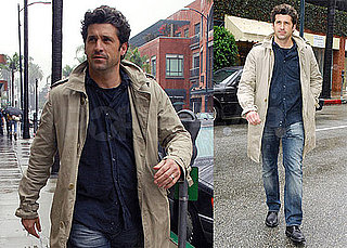 Photos of Patrick Dempsey in a Raincoat in LA