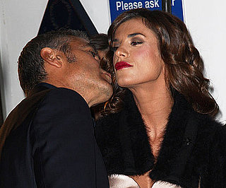 Slide Photo of George Clooney Kissing Elisabetta Canalis