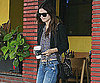 Slide Photo of Rachel Bilson Getting Coffee in LA