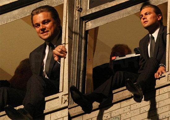 Photos of Leonardo DiCaprio Filming Inception in LA 2009-10-23 09:18:52