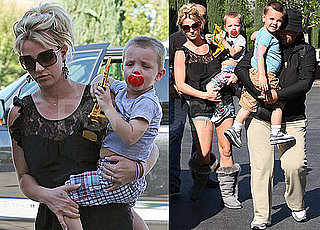 Britney Brings Her Boys From Bikini Time to a Double Feature