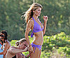 Slide Photo of Marisa Miller in a Purple Bikini