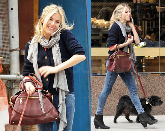 Photos of Sienna Miller Walking Her Dog in NYC