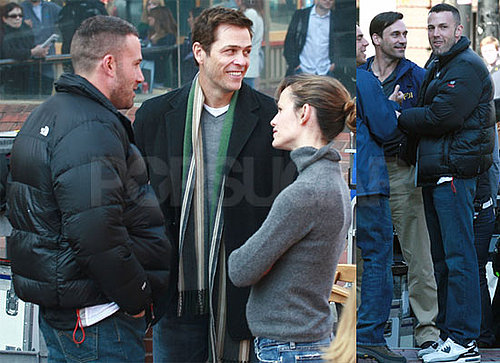 Photos of Ben Affleck, Jennifer Garner and Jon Hamm on The Set of The Town in Boston