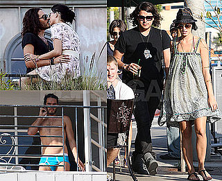 Photos of Katy Perry And Russell Brand Kissing in LA