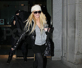 Slide Photo of Lindsay Lohan Leaving Building in NYC