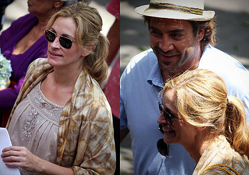 Photos of Julia Roberts and Javier Bardem Filming Eat, Pray, Love 2009-10-20 14:14:10.1