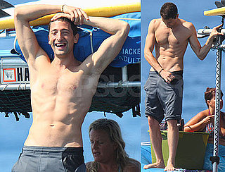 Shirtless Adrien Brody and His Six-Pack in Hawaii