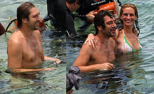 Photos of Javier Bardem Shirtless And Julia Roberts in a Bikini Filming Eat, Pray, Love