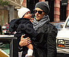 Slide Photo of Gabriel and Nahla Aubry in NYC Before Halloween