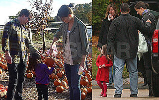Photos of Katie Holmes And Suri Cruise Visiting Tom Cruise on The Boston Set of Knight And Day