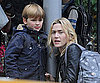 Slide Photo of Kate Winslet and Her Son Leaving School in NYC