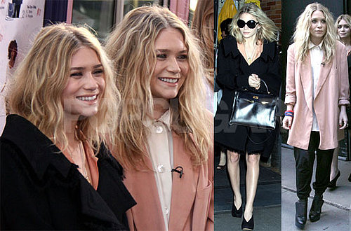 Photos of Mary-Kate And Ashley Olsen Promoting Olsenboye on Good Morning America