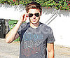 Slide Photo of Zac Efron in LA Wearing Sunglasses