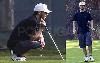 Photos of Justin Timberlake Golfing in Casual Clothes in LA