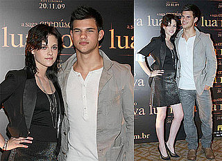 Photos of Kristen Stewart and Taylor Lautner in Brazil for New Moon