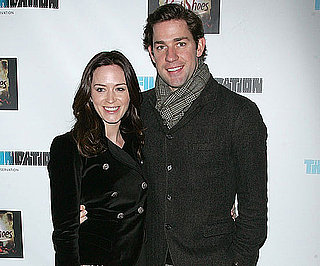 Slide Photo of John Krasinski and Emily Blunt at NYC Film Screening