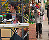 Photos of Katie Holmes and Suri Cruise on the Set of The Romantics