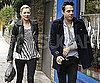 Slide Photo of Kate Moss and Jamie Hince Walking in London