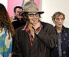 Slide Photo of Johnny Depp Smiling at Art Event in LA