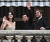 Slide Photo of Kristen Stewart Robert Pattinson and Taylor Lautner in Paris For New Moon