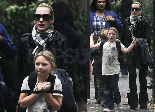Photos of Kate Winslet Picking Up Kids Joe Mendes And Mia Threapleton From School in NYC