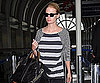 Slide Photo of January Jones At LAX