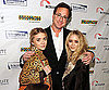 Slide Photo of Bob Saget with Mary Kate Olsen and Ashley Olsen in NYC
