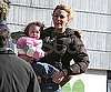 Slide Photo of Blake Lively Holding Baby on The Town Set in Boston