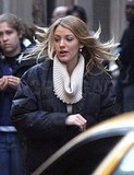 Photos of Blake Lively and Ed Westwick on the Set of Gossip Girl
