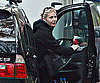 Slide Photo of Gwyneth Paltrow Getting Out of Car in London