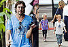 Photos of Javier Bardem in Bali Filming Eat Pray Love; Julia Roberts With Kids Hazel and Phinnaeus Moder