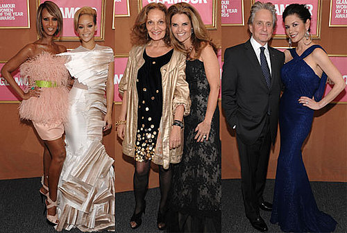Photos of Rihanna, Catherine Zeta Jones, Stella McCartney, Tyra Banks at Glamour Women of the Year Event in NYC 2009-11-10 07:45:00
