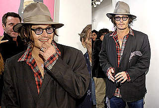 Photos of Johnny Depp at an Art Show in LA 2009-11-10 05:00:00