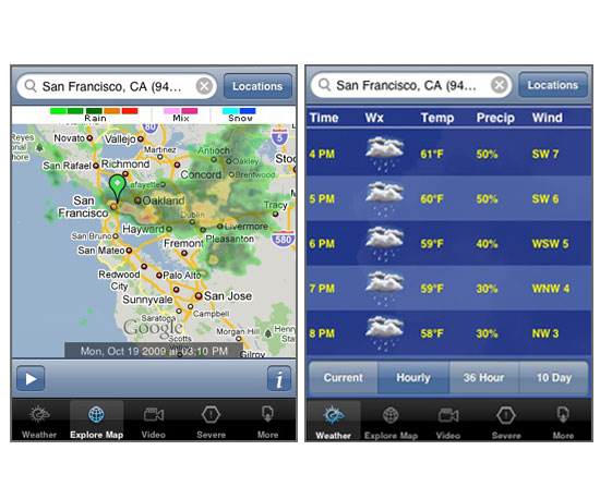 Weather.com iPhone App