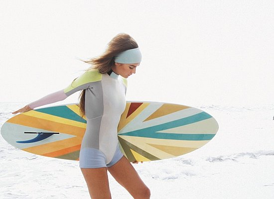 Cynthia Rowley Surfs With Roxy