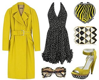 ShopStyle Widget With Black and Yellow Items by Alberta Ferretti and Kenneth Jay Lane