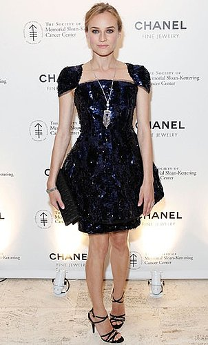 Photo of Diane Kruger Wearing Chanel Couture Dress at Chanel's Fete d'Hiver Benefit in NYC