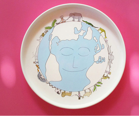 Smiling Planet Plates