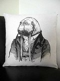 Feeling discombobulated? Perhaps it's time for a visit with this Dr. Walrus Silkscreened Cotton Canvas Throw Pillow ($60). Or perhaps just a long nap. He'll make everything better.