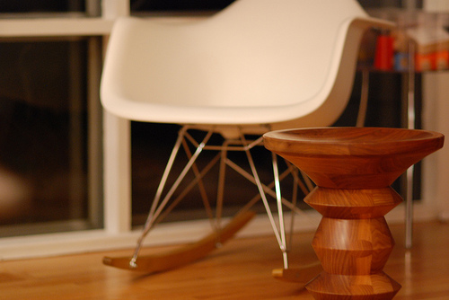 Double your Eames fun with a rocker and a stool.  Source:  Flickr User turoczy